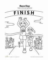 Run Colouring Coloring Running Race Worksheets Track Preschool Cross Country Worksheet Jesus Meet Students Drawing Runner Sheets Bible Crafts Drawings sketch template