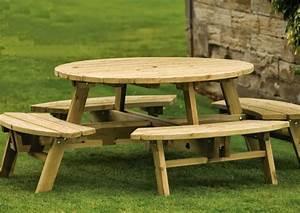 Table Jardin En Bois : table de jardin pas cher meuble design pas cher ~ Teatrodelosmanantiales.com Idées de Décoration