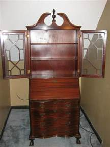 antique secretary cabinet with drop down desk for sale