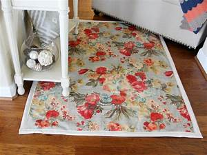 How to make a rug from upholstery fabric how tos diy for Diy fabric carpet