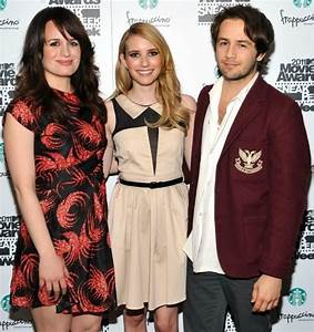 "Michael Angarano and Emma Roberts at ""The Art of Getting ..."