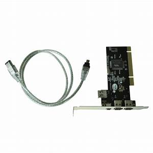 New Pci Firewire Ieee 1394 3   1 Port Card   4  6 Pin Cable