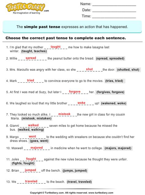 lesson plan for tenses for grade 4 english google search
