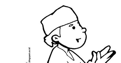 Sketsa Kartun Hijab Mewarnai Gambar Sketsa Kartun Anak Muslim 3