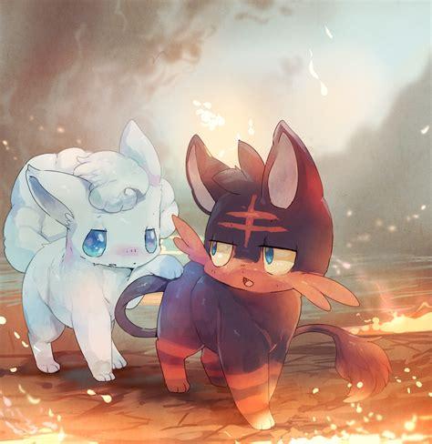Litten and Alolan Vulpix Pokémon Sun and Moon Know