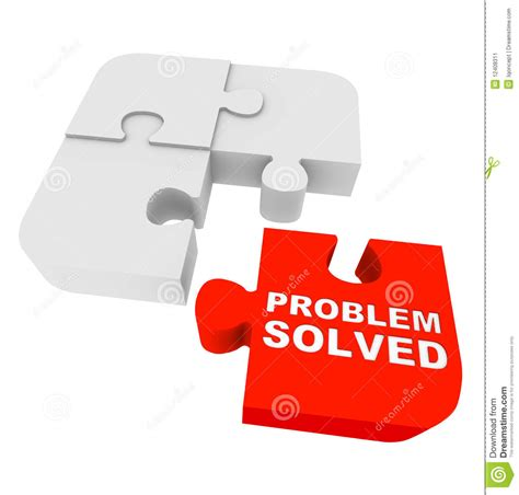 Puzzle Pieces  Problem Solved Stock Illustration Image