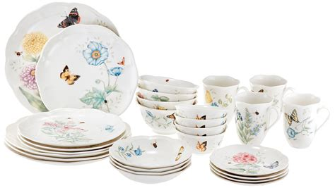 lenox dinnerware amazon butterfly meadow piece classic sets lightweight sc st bowls pasta rated china corelle popular individual casual