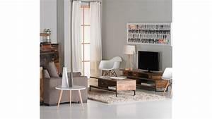 Casa Meuble Tv : achetez votre meuble tv industriel 3 plateaux bois et acier woodland pas cher sur loft ~ Teatrodelosmanantiales.com Idées de Décoration