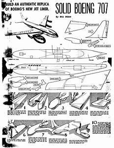 Model Airplane News - Boeing 707  Instructions