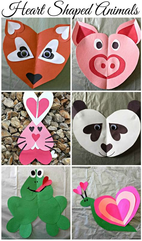 s day crafts the idea room 630 | heart shaped paper animals