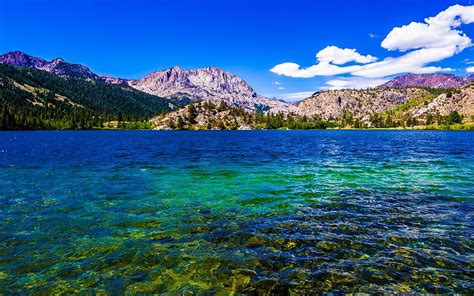 Fall Iphone 6 Wallpaper Gull Lake Near June Lakes California Photograph By Scott Mcguire