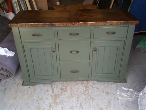 Hand Crafted Distressed Painted Sideboard By Jeremy