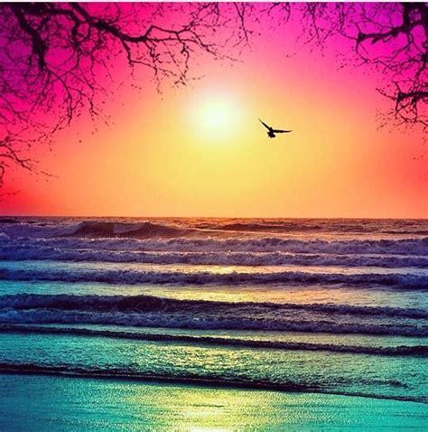 Beautiful Ocean Sunset Ocean Love Pinterest Ocean