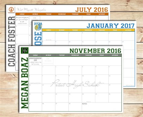 Custom Desk Blotter Calendars by 2016 2017 Diy Print Your Own Custom Desk Calendar Desk Pad