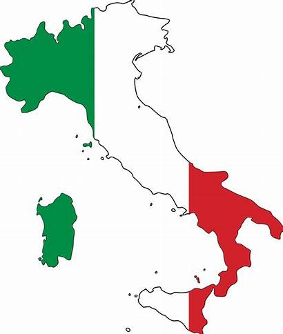 Italy Flag Map Clip Italian Vector Italia