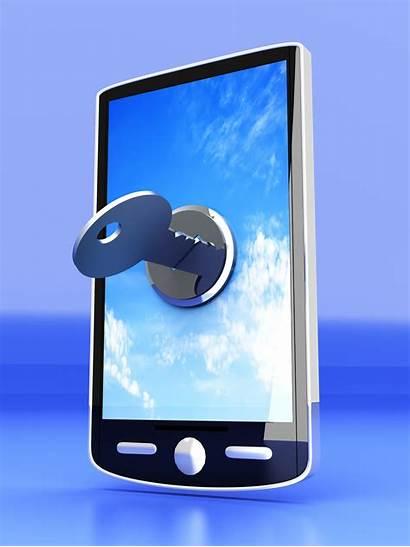 Mobile Lock Security Device Screen Locked Smartphone