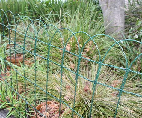 green garden fence coolaroo garden border fencing green buy in 1374