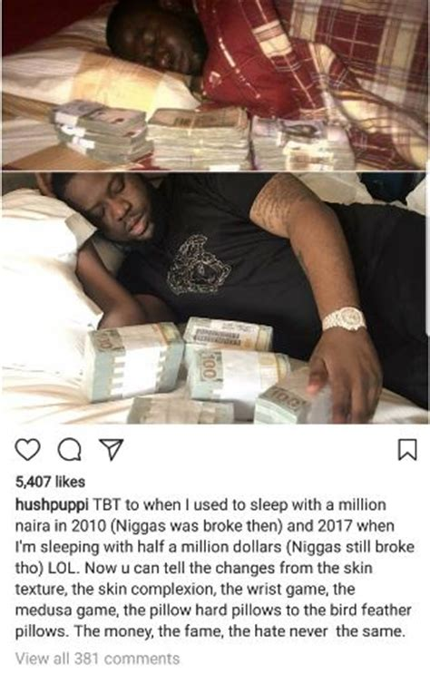 hush puppi shares throwback pic   sleeping  nm