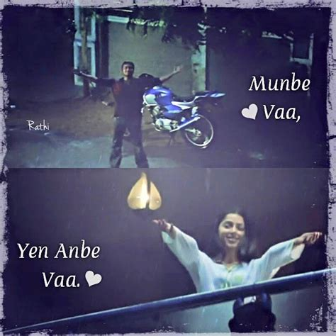 Munbe Vaa Song Quotes
