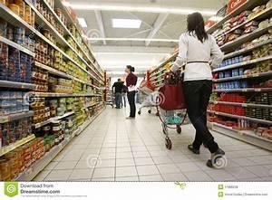 Customers Shopping At Supermarket Editorial Stock Image ...