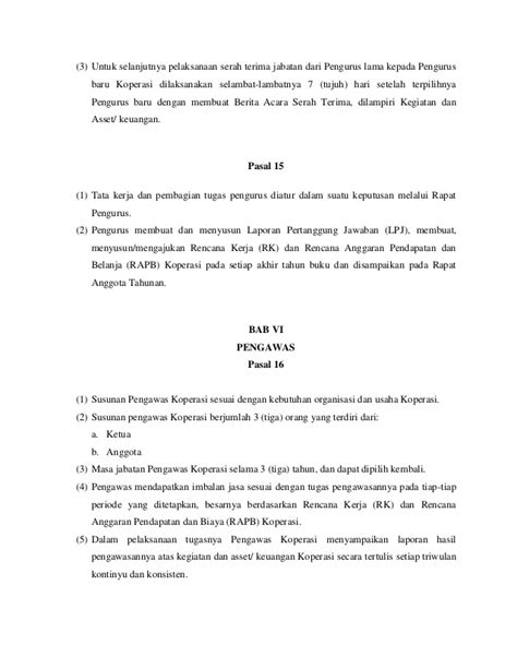 Contoh Notula Rapat Resmi by Contoh Laporan Pertanggung Jawaban Pengurus Koperasi