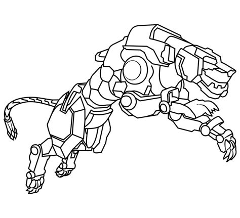 voltron coloring pages yellow lion educative printable