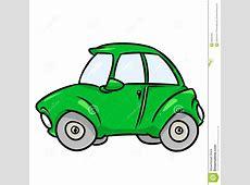 Cartoon Green Car Illustration Stock Illustration Image