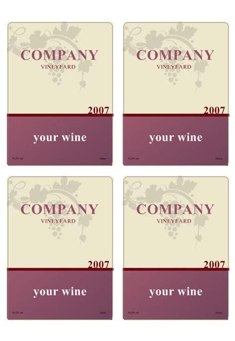 faca   de modelos de etiquetas de vinho