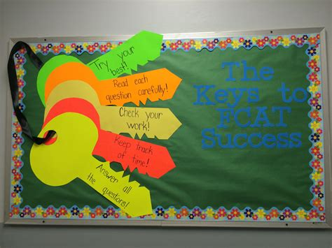 keys  success   fcat bulletin board keys