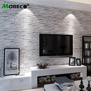 Moreco 3d brick&stone pattern modern style wallpaper Home ...