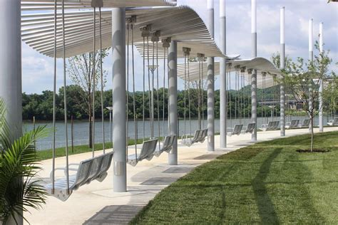 Porch Support Post by New Swings Open At Smale Riverfront Park Wvxu
