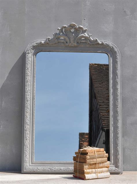 antique late  french ornate mirror home barn vintage
