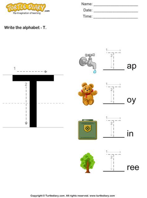write alphabet   uppercase worksheet turtle diary