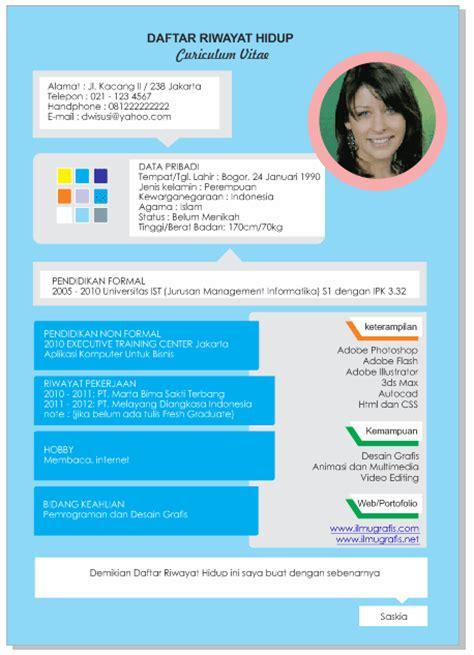 Cara Membuat Resume Yang Menarik by Contoh Cv Daftar Riwayat Hidup Kreatif Menarik Lengkap