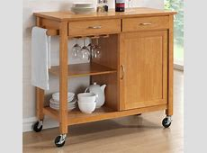 Hardwood Oak Finish Kitchen Trolleys Half Price Sale Now