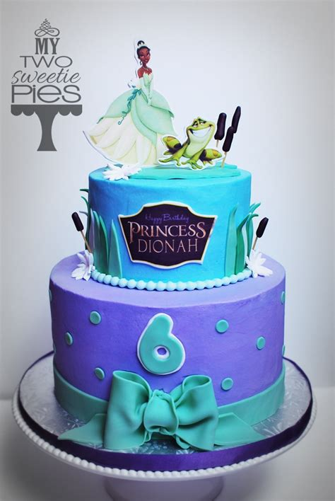 princess   frog themed birthday cake girls
