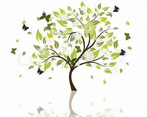 Baum Mit Blüten : sch ne sommer baum mit bl ten blumen vektor illustration stock vektor colourbox ~ Frokenaadalensverden.com Haus und Dekorationen
