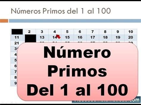 Numeros Primos Del 1 Al 100 Youtube