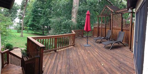 full deck lattice refinishing  webster groves