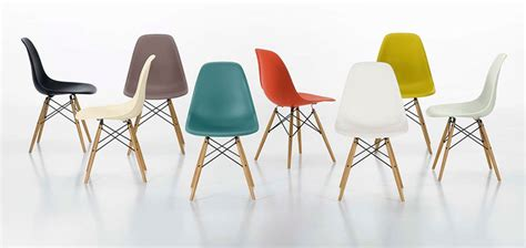 chaises eams design icons plastic chair by charles eames eric