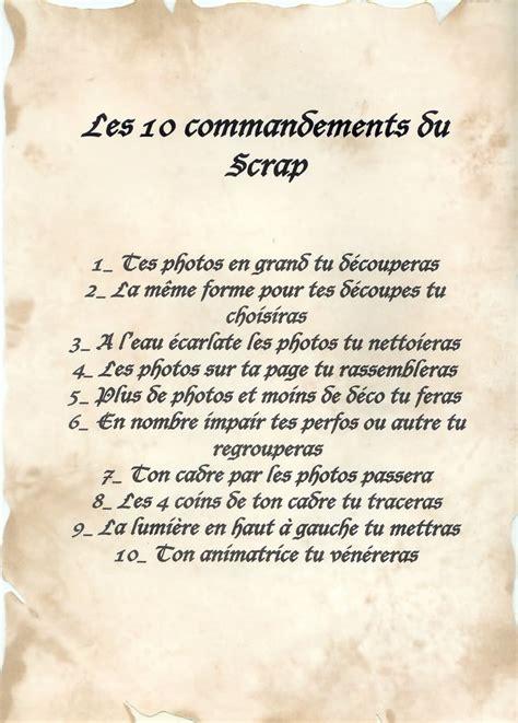 les bureaux de dieu les dix commandements du scrap european scrapbooking