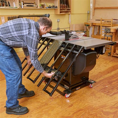 sawstop folding outfeed table rockler woodworking
