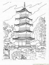 Pagoda Coloring Buddhist Japan Temple Japanese Drawing Chinese Sightseeing Printable Coloringpages101 Tattoo Drawings Architecture Temples Colouring Shrine Castle Samurai Tattoos sketch template