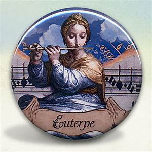 Euterpe Greek Muse Pocket Mirror tartx