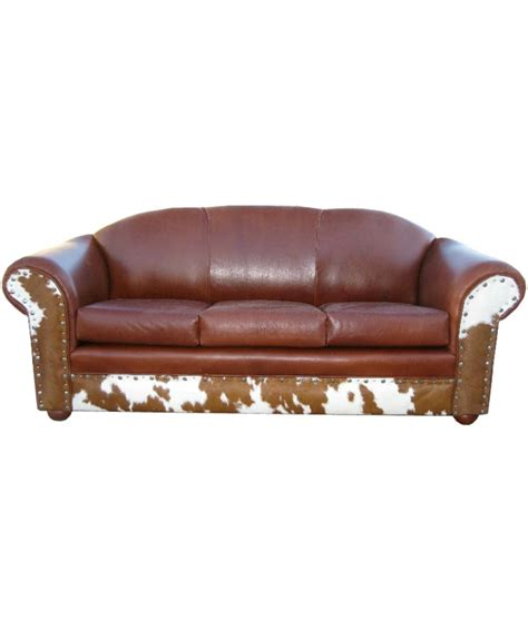 Cowhide Sofa by Cowhide Sofa With Leather Seats