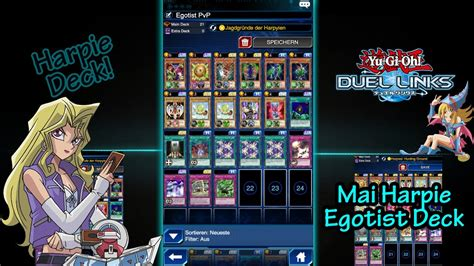 five headed deck duel links yugioh duel links mai harpie egotist pvp deck tutorial