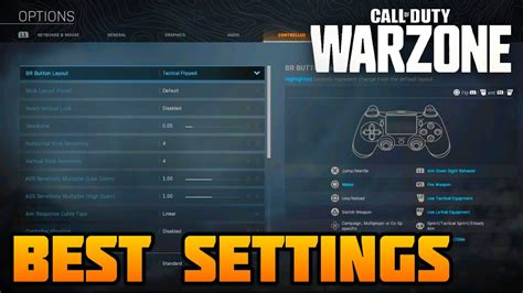 warzone settings pc controller warfare modern