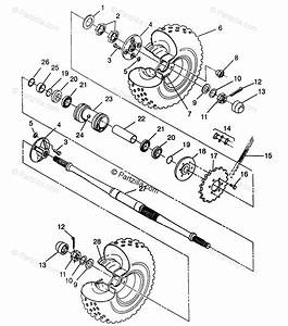 Polaris Atv 1996 Oem Parts Diagram For Rear Wheel Drive