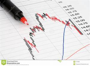 Pen Showing Diagram Stock Photo  Image Of Growth  Chart