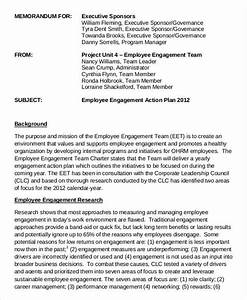 comfortable employee engagement plan template contemporary With employee engagement resume